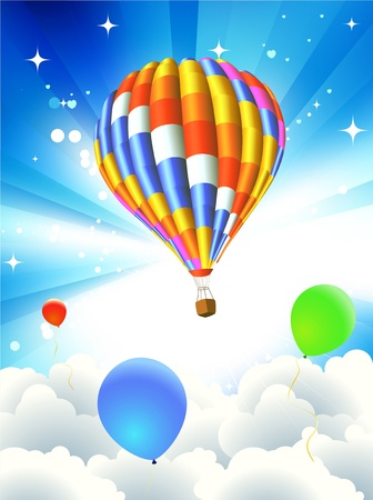 illustration of Colorful abstract Background with funky balloons