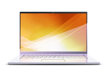 Vector illustration of  modern laptop Stock Vector - 9945365