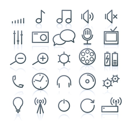 Set of original multimedia Icons Vector