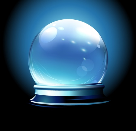 Vector illustration of Crystal ball  Vector