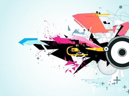 urban colors: Ilustraci�n vectorial de estilo abstracto de fondo urbano decorativo Vectores