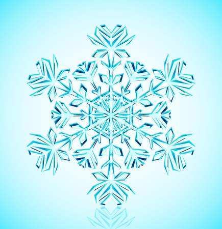 brillant: Vector illustration of detailed  crystal snowflake