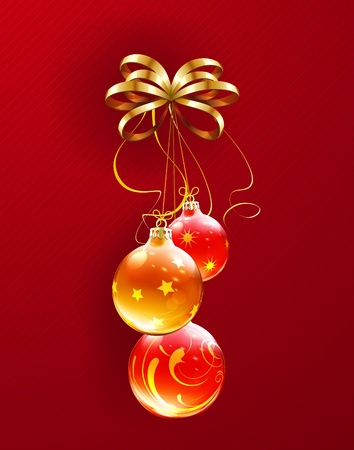 Vector illustration of cool Christmas decorations Vector