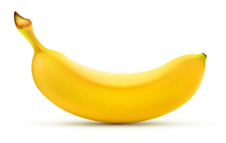 illustration of detailed shiny yellow banana