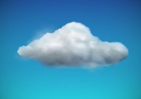 illustration de l'icône de temps froid seul - flotteurs de nuages ??dans le ciel Illustration