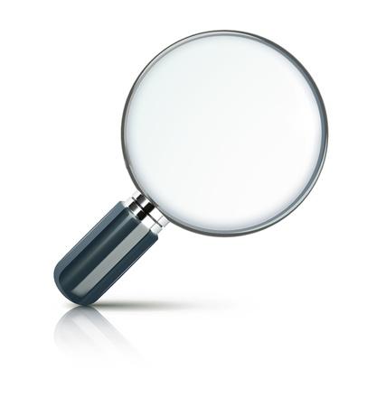 zvětšovací sklo: Vektorové ilustrace zvětšovací sklo izolovaných na bílém pozadí.