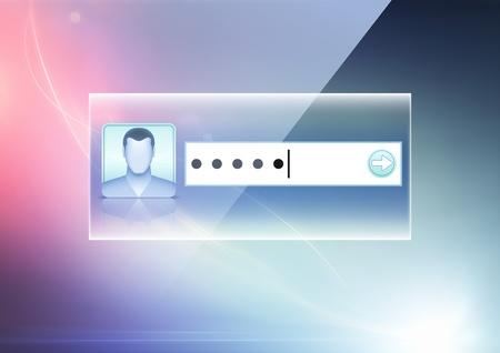 lösenord: Vektor illustration av mjukt färgad abstrakt bakgrund med datasäkerhet koncept Illustration