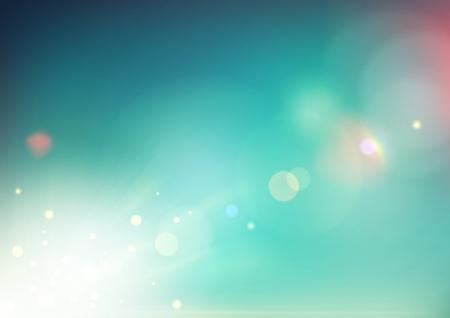 lichteffekte: Vektor-Illustration von weichen farbigen abstrakten Hintergrund Illustration