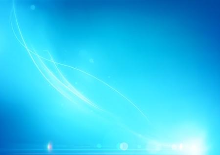 lichteffekte: Vector Illustration der weichen blauen abstrakten Hintergrund