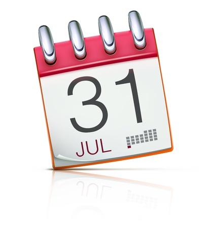 illustration of detailed beautiful calendar icon Stock Vector - 12943309