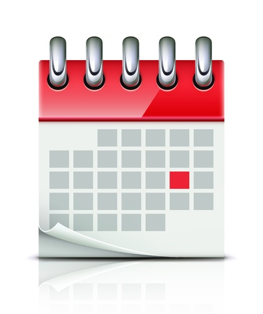 event planning: illustration of detailed beautiful calendar icon Illustration