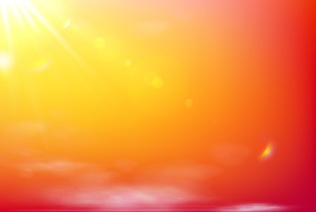 calm background: Vector illustration of soft orange abstract background Illustration