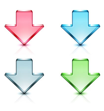 Vector illustration of download concept icons