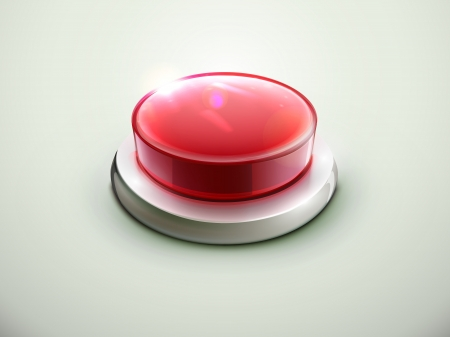 Vector illustration of shiny red emergency button Stock Vector - 15491156