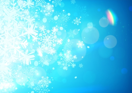 illustration of Blue abstract background with cool snowflakes Vector