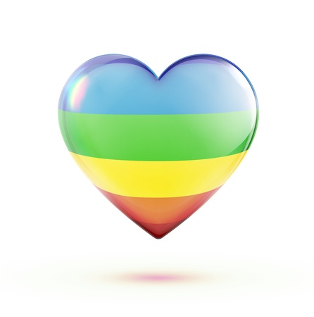 multicolored heart shape isolated on white background  Vector