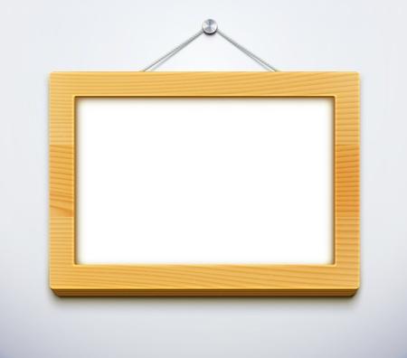 illustration of detailed wooden frame Stock Vector - 16616545