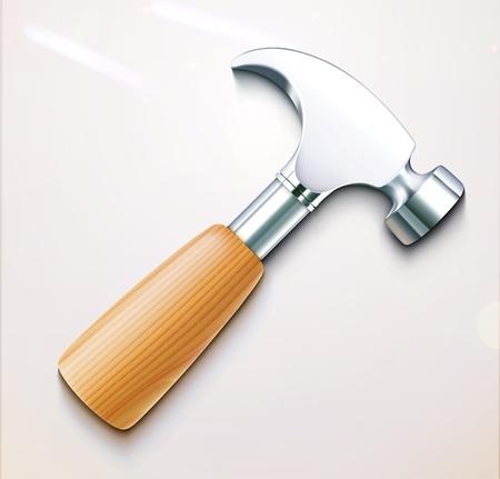 Vector illustration of a single detailed hammer icon  Illustration