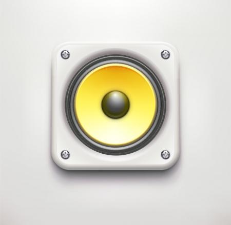 illustration of detailed sound loud speaker icon on soft background