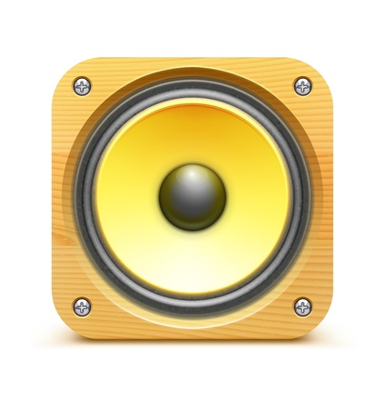 loud speaker:  illustration of detailed sound loud speaker icon on white background Illustration