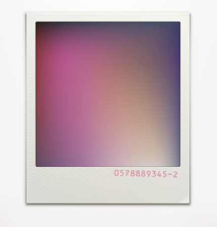 illustration of blank retro  photo frame over soft background with color correction layer for vintage faded look of your photos. Easy to use. Stock Vector - 16720246