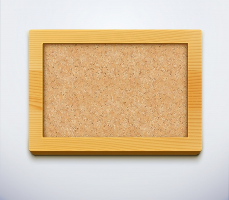 illustration of detailed blank cork bulletin board with wood frame. Stock Vector - 16777733