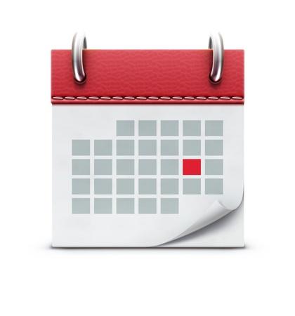Vector illustration de l'icône de calendrier détaillé belle Vecteurs