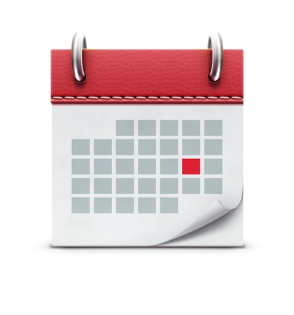 Vector illustration of detailed beautiful calendar icon