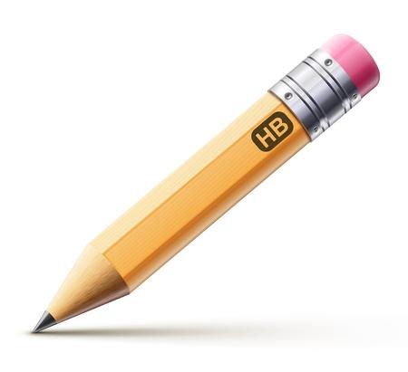 Vector illustration de crayon aiguisé détaillée isolé sur fond blanc Vecteurs