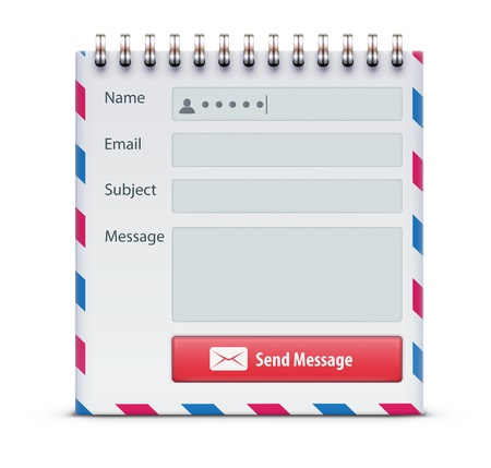Vector illustration of mail form concept