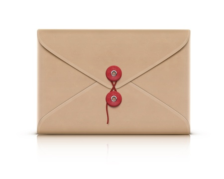 old envelope: Vector illustration of realistic manila envelope isolated on a white background