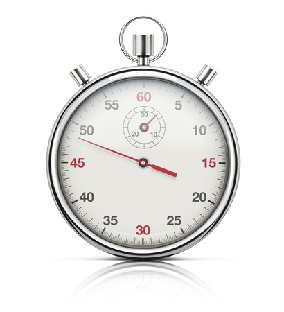 chronometer: illustration of realistic stopwatch or chronometer watch isolated on white background