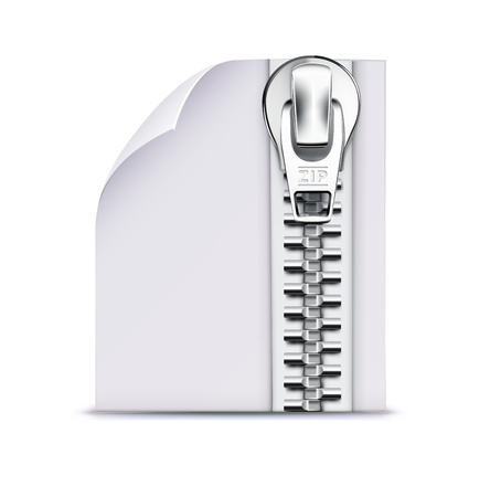 illustration of interface computer zip file icon Stock Vector - 17742640