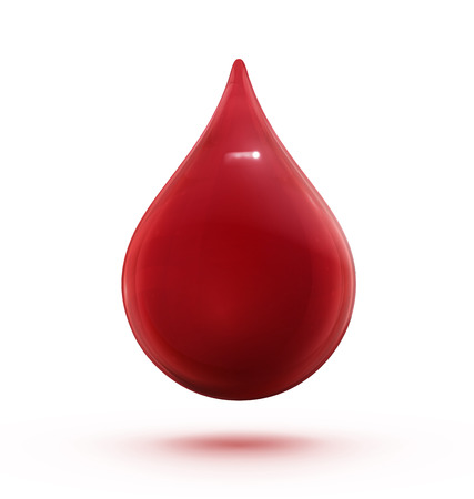 reflection of life: Illustration of a single red shiny blood drop