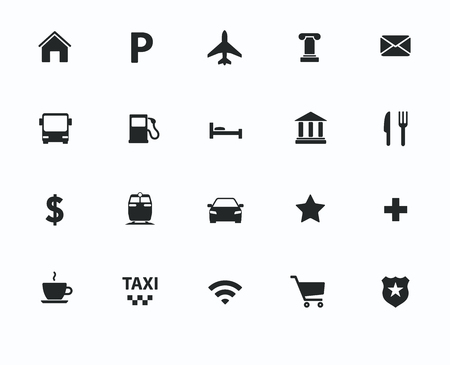 navigation icons: Vector navigation, direction, maps, traffic icons set Illustration
