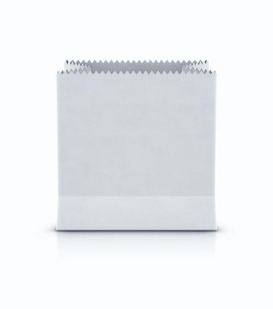 Vector illustration of white shopping paper bag isolated on white background Ilustrace