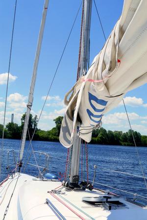 Sailing boat. Sailboat. Yachting. Sailing