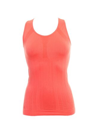 sleeveless sports shirt isolated on white. womens active sports clothing