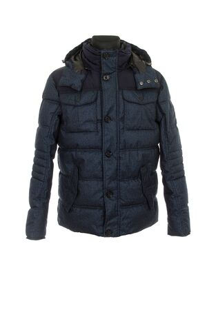 men's warm winter jacket isolated on white background Banco de Imagens