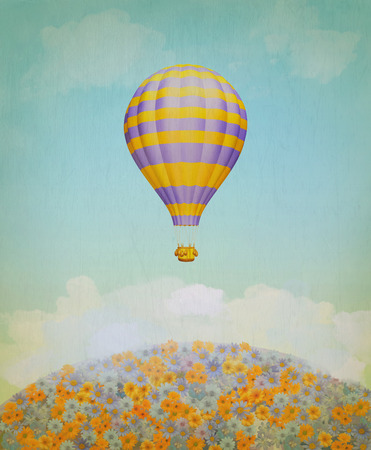 easiness: Baloon in the sky. Illustration