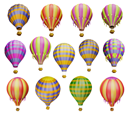 easiness: Air balloons. Isolated on white