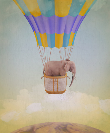 easiness: Elephant in the sky. Illustration