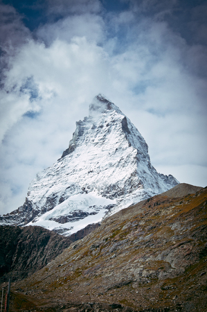 matterhorn: The top of the Matterhorn. Pennine Alps