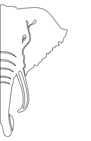 Elephant. Coloring book vector illustration