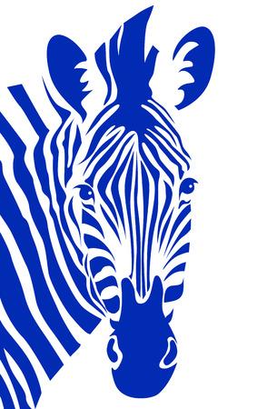 Zebra hoofd. Vector illustratie