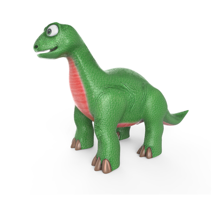 A cute dinosaur. 3D image. Isolated on white  Stock Photo