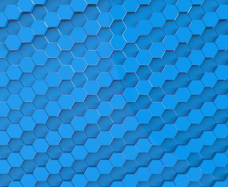 Blue hexagon honeycomb pattern background. 3D illustration 版權商用圖片