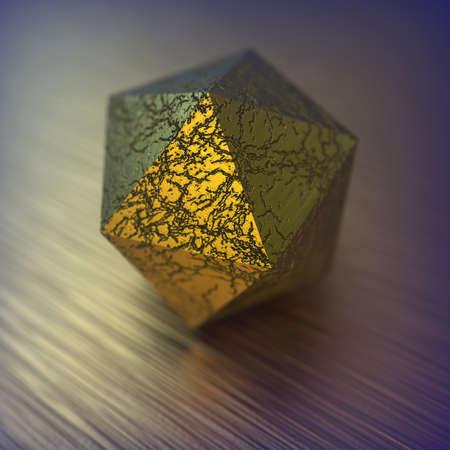 3D render with geometric figure. 版權商用圖片