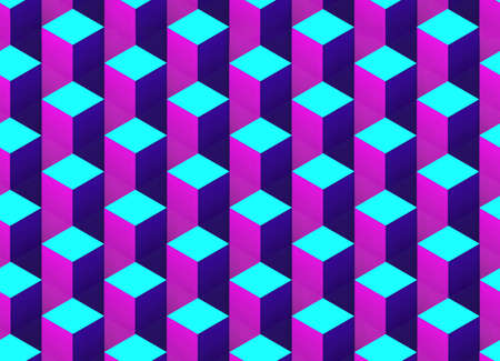 Abstract bright colorful background. Seamless 3d pattern. 版權商用圖片