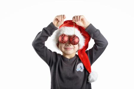 peekaboo: Peekaboo with Christmas balls